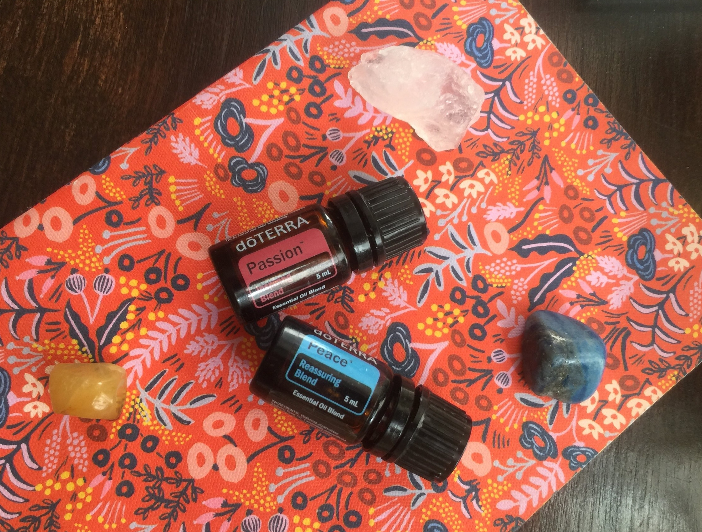 Pictured: Passion + Peace from the doTerra Emotional Aromatherapy System. Click to grab them from my own site! (Instructions on how to find them on the left.)