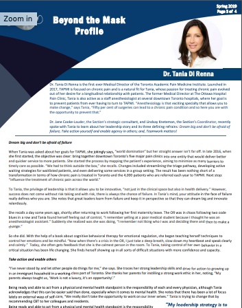 Dr. Tania Di Renna - Spring 2019