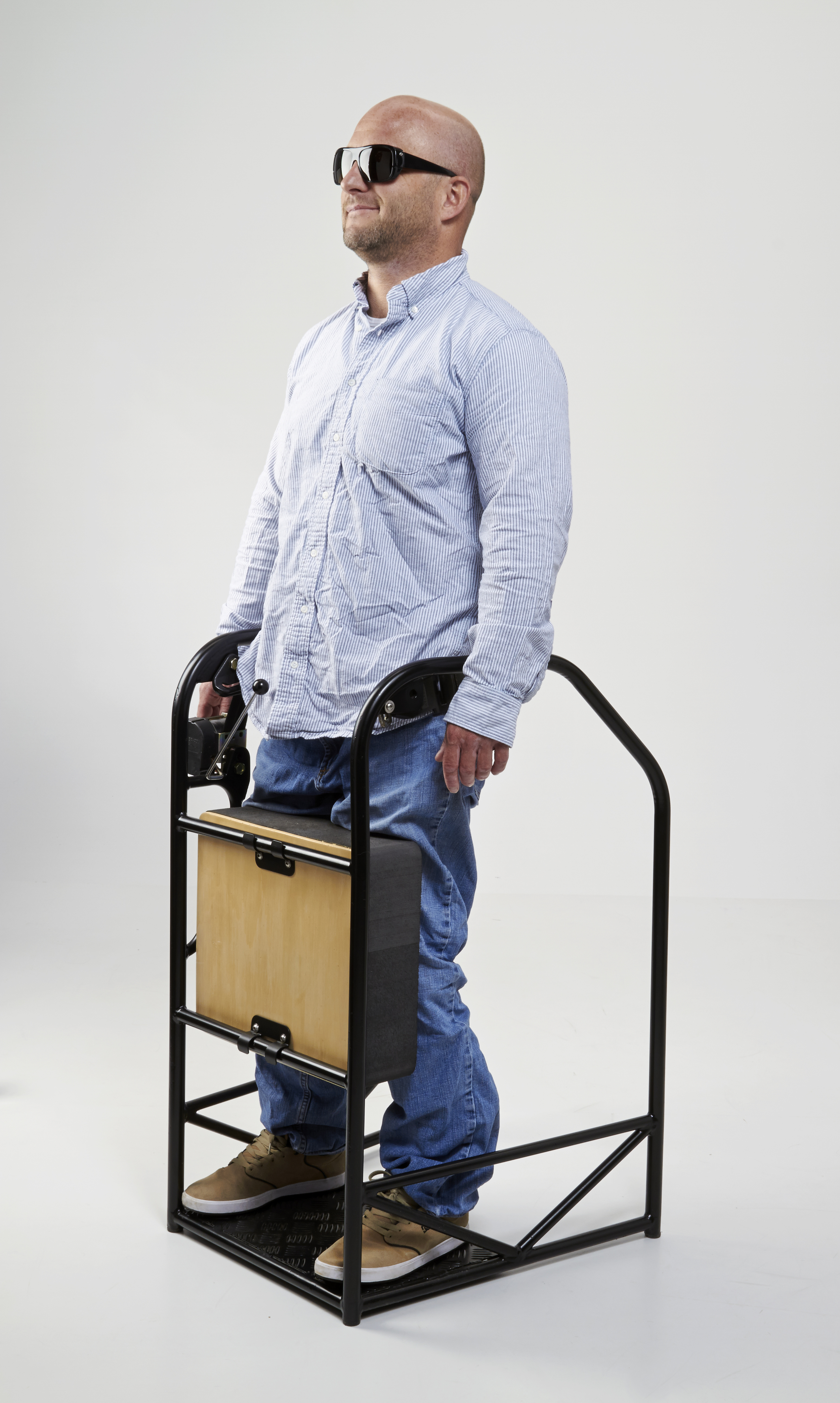 PARASTANDER allows paraplegics to stand up more quickly and stand more often and for a longer time.