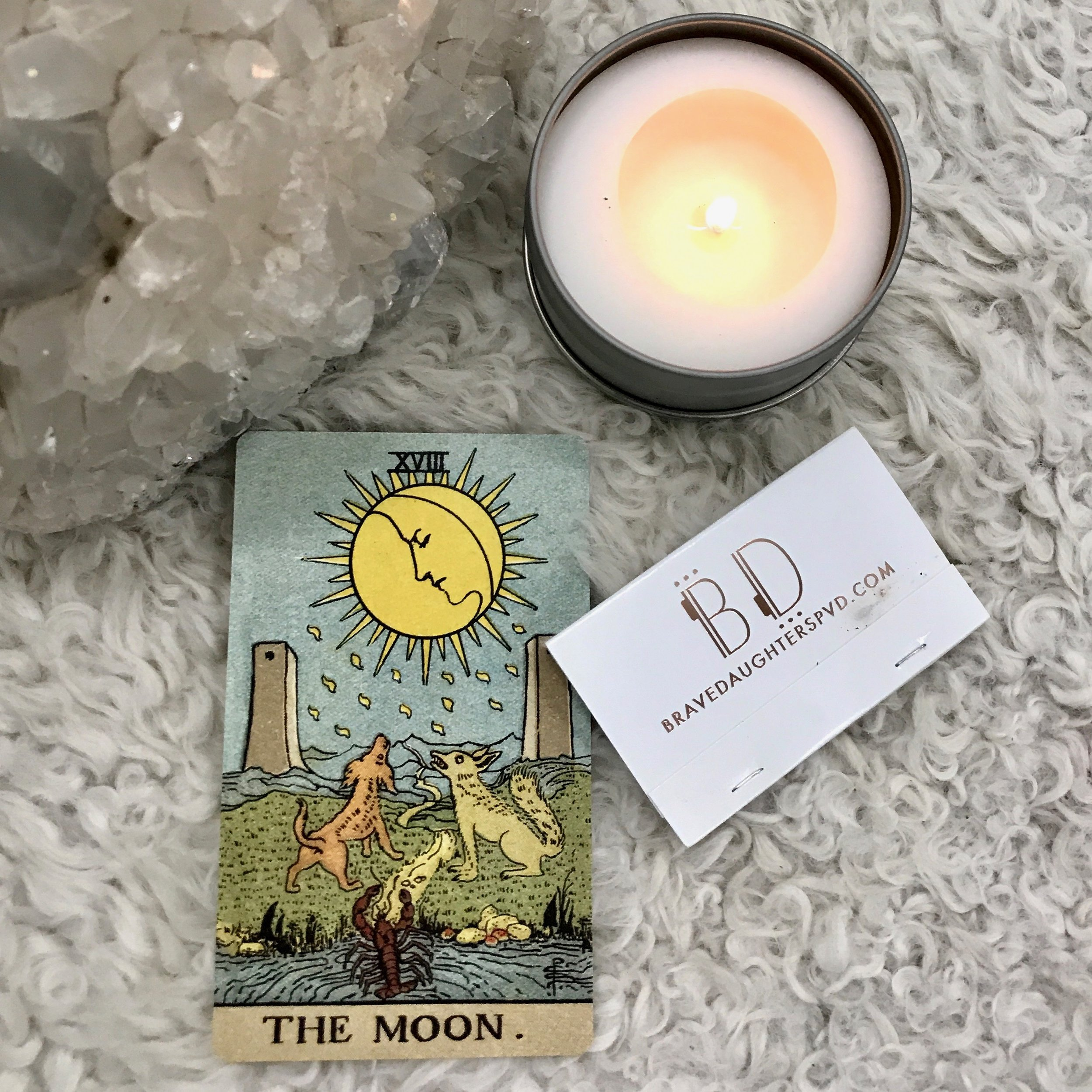 FEELS// - A mood board and playlist inspired but The Moon card of the Tarotintuition/emotions/the unconscious mind
