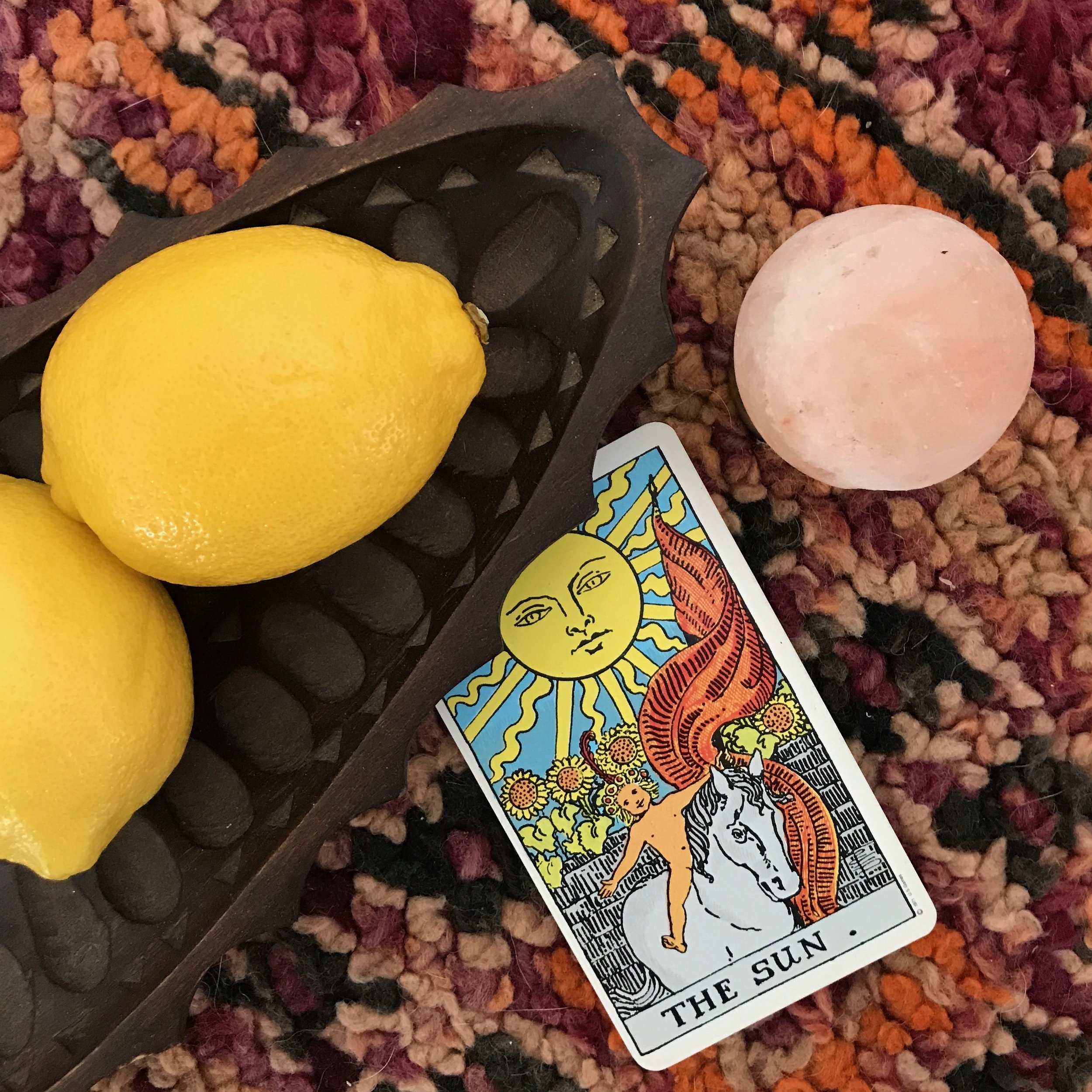 LIT// - A mood board and playlist inspired by The Sun card of the Tarotvitality/truth/illumination
