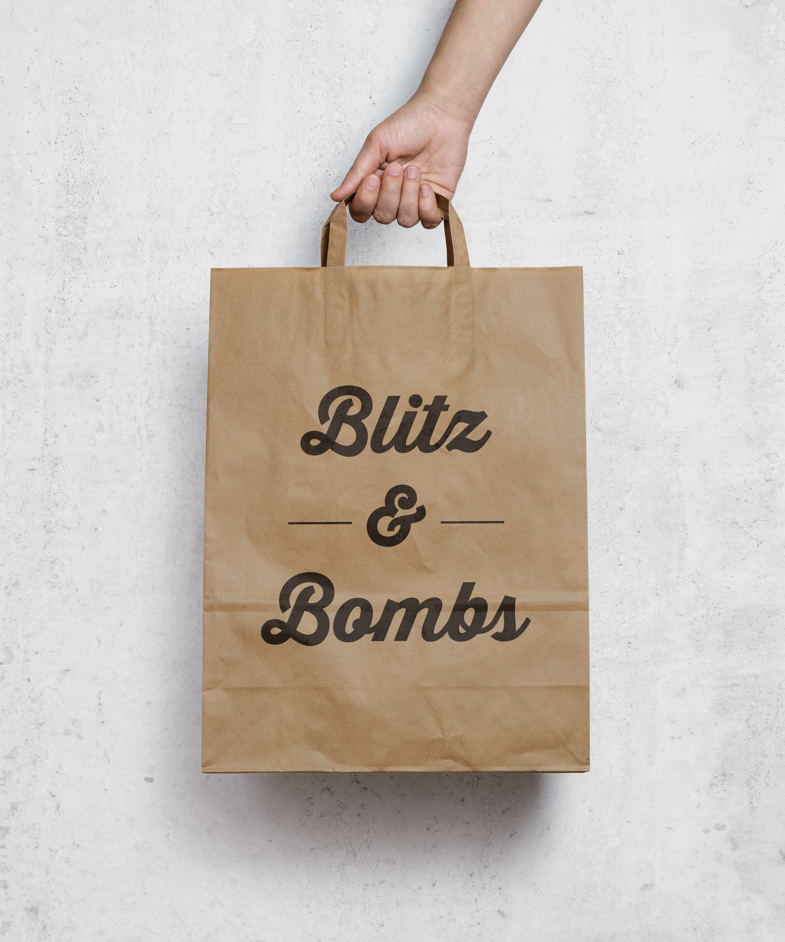 Blitz & Bombs logo and branding