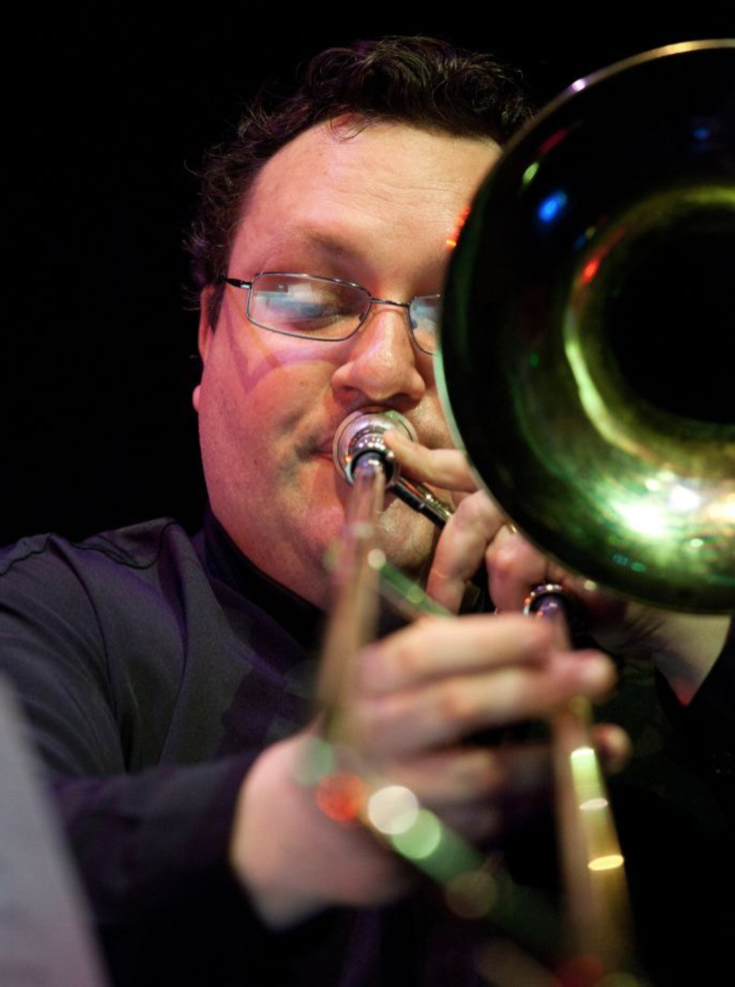 Adrian Sherriff, bass trombone, electronics
