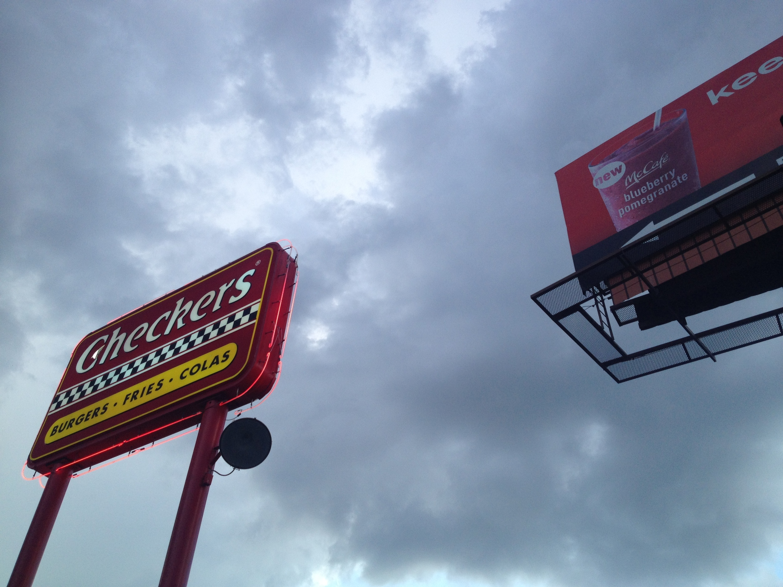 Strategic Advertising (Checkers and McDonald's) Savannah, GA, 2014