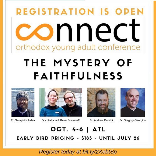Our friends with the @connectorthodoxy Conference still have a few open registration spots! This is the third year and excitement is high. Visit connectorthodox.org for more information. Hope to see you there!