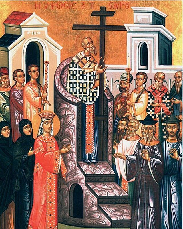 Please join us tonight at 6p for Great Vespers for the Feast of the Exaltation of the Precious and Life Giving Cross of the Lord. It is one of the 12 Major Feasts of an Orthodox year. . . . Tomorrow morning we will have Matins at 6:45a followed by Divine Liturgy at 7:45a. Our Parish Retreat with Dcn. Stephen Muse will begin at 10a and go until 2p. Admission is free and all are welcome!
