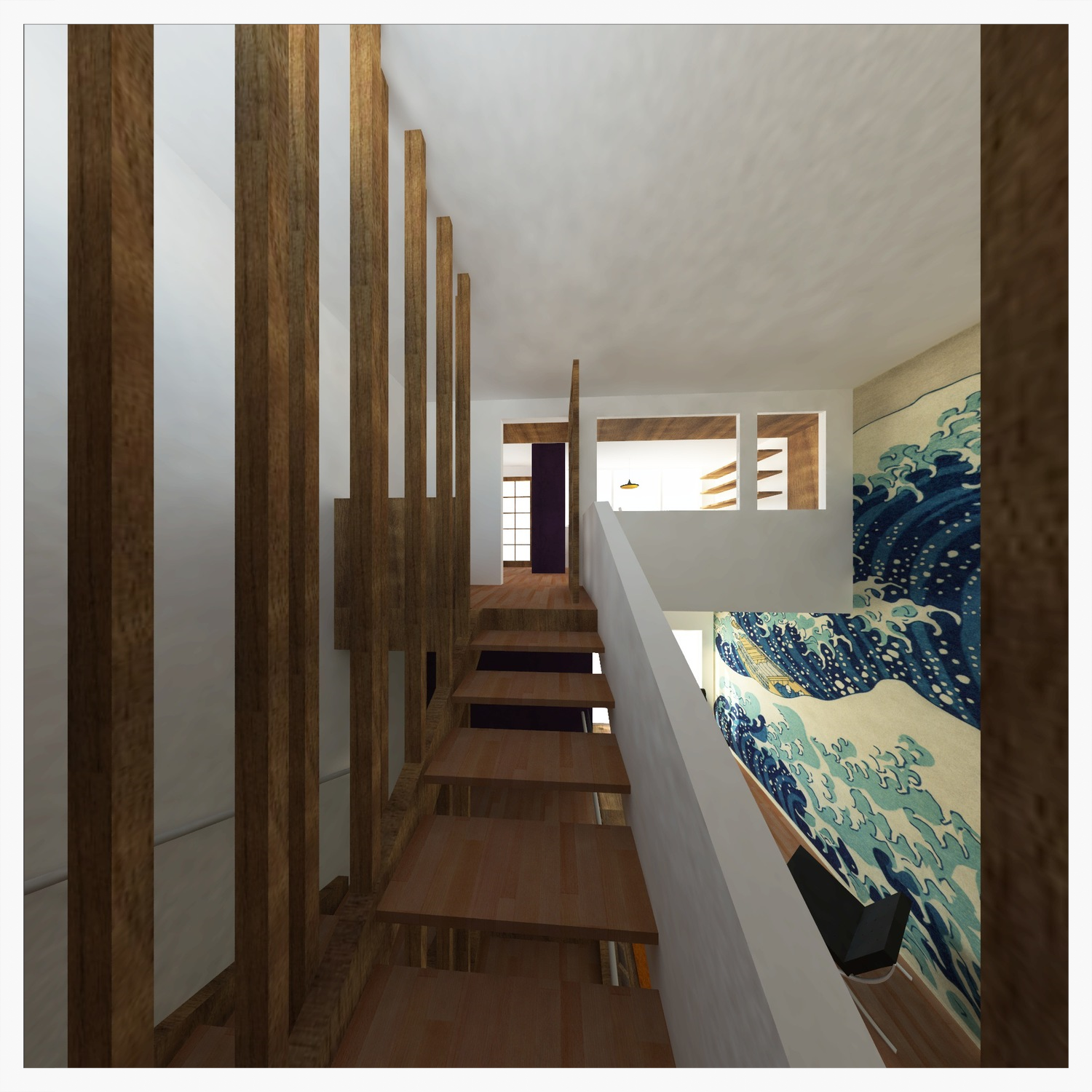 interior perspective                                  rendering: maison orion