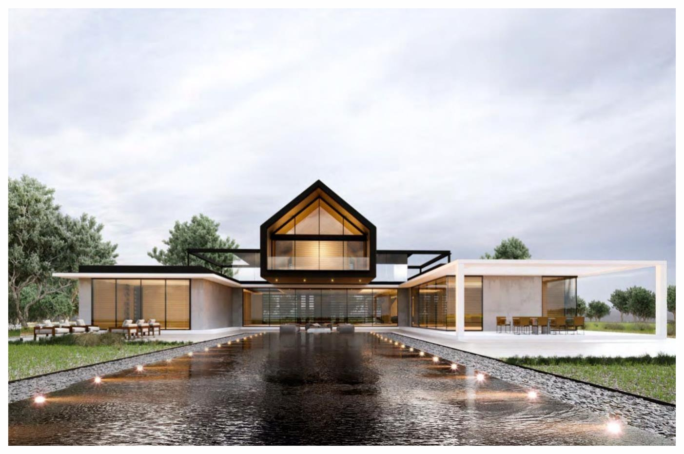 rear elevation / Rendering owned by noble design and architecture