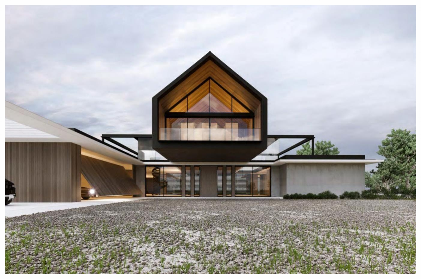 Front elevation / Rendering owned by noble design and architecture