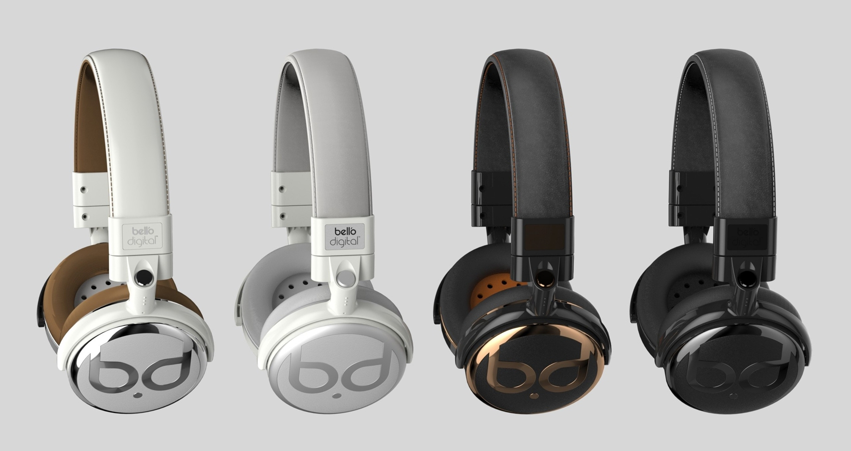 Color and Material finish studies of Bell'O Headphones