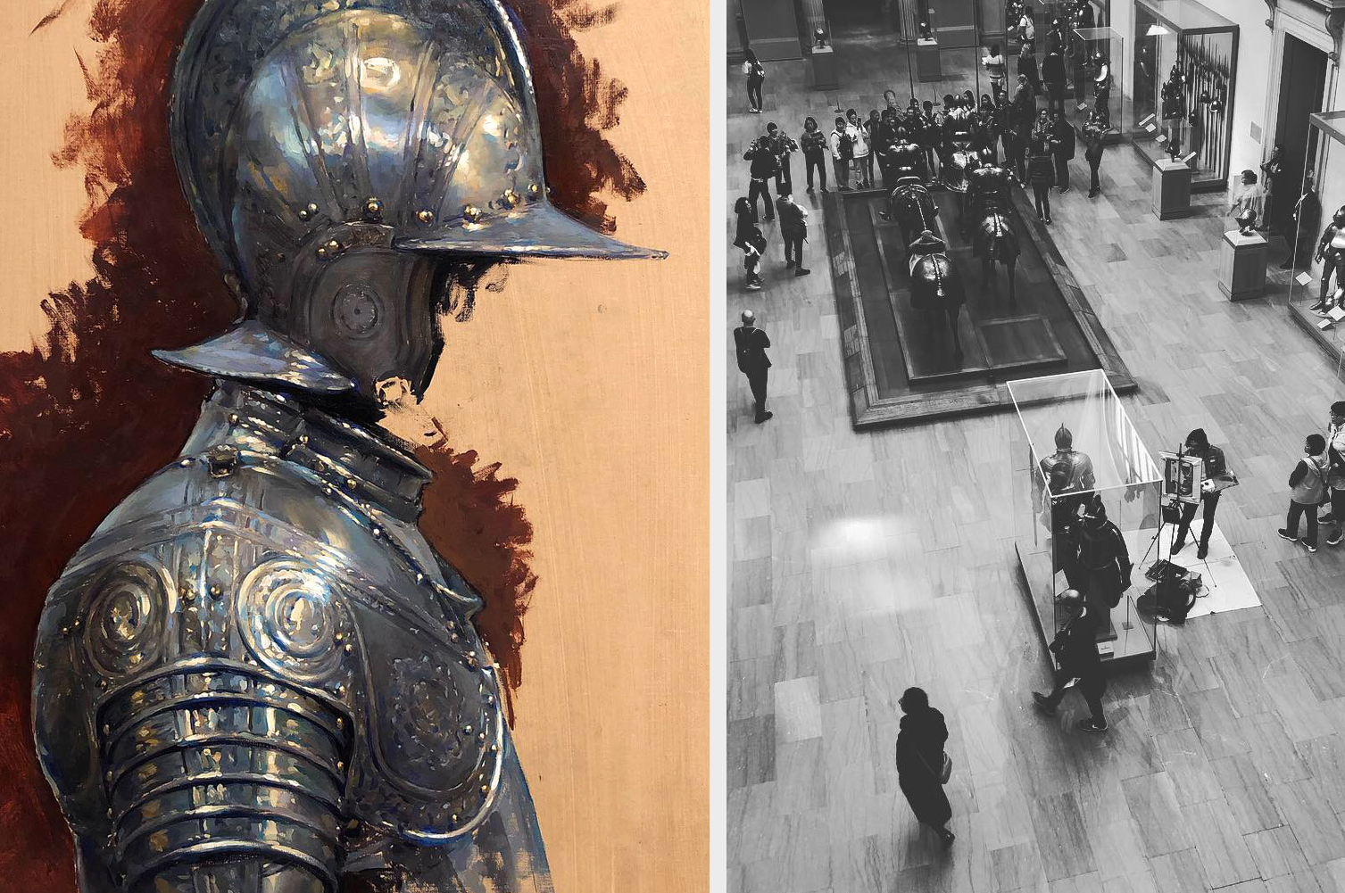 [Infantry Armor | study from the Metropolitan Museum of Art in NYC - 2018 | photo credit to  J.F. Mazur ]