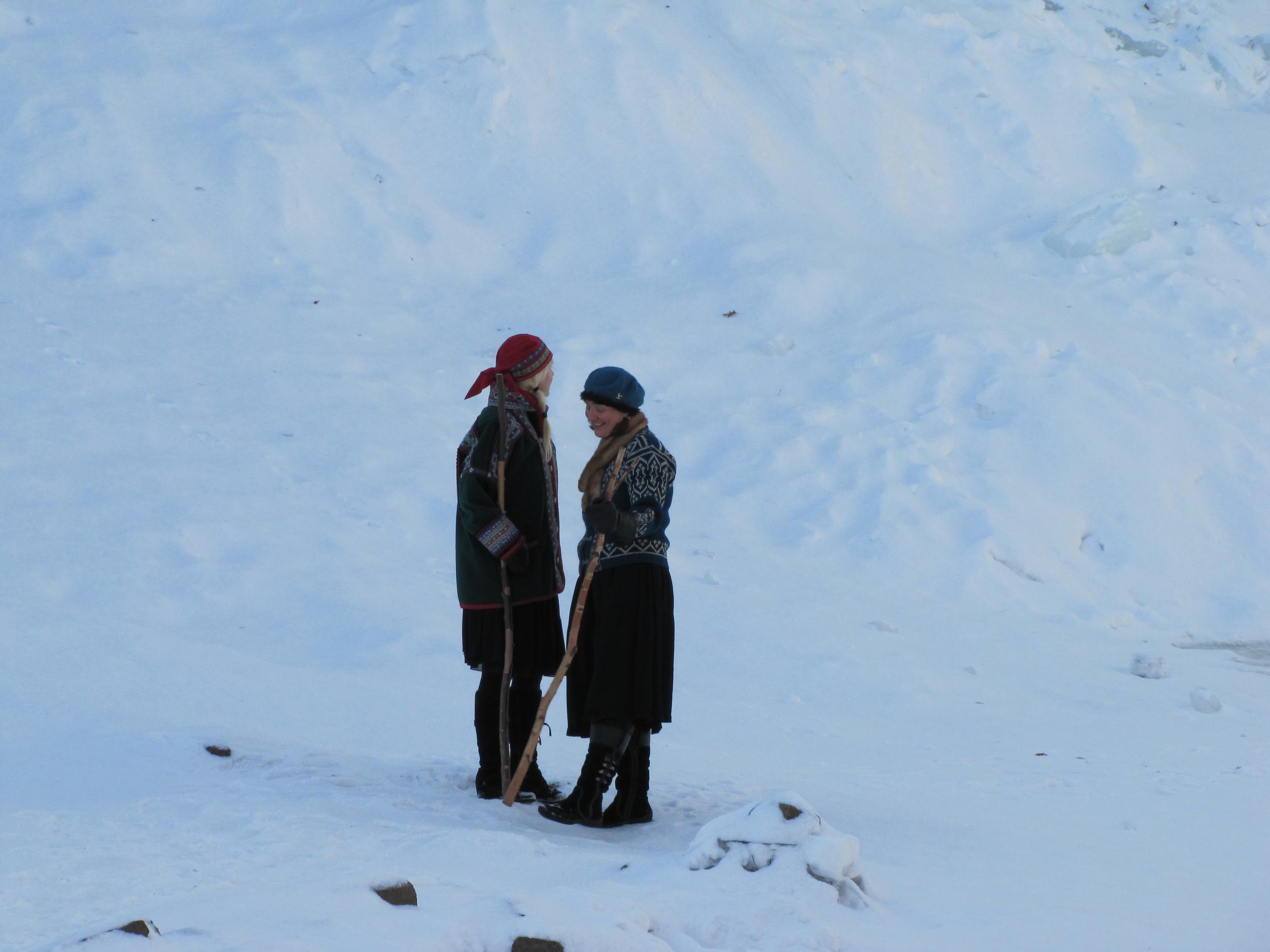 Lynette Reini-Grandell and Kari Tauring. Photo by Drew Miller.