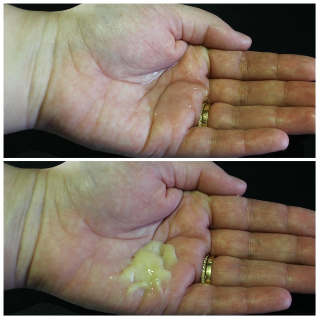 Textura do shampoo e do condicionador