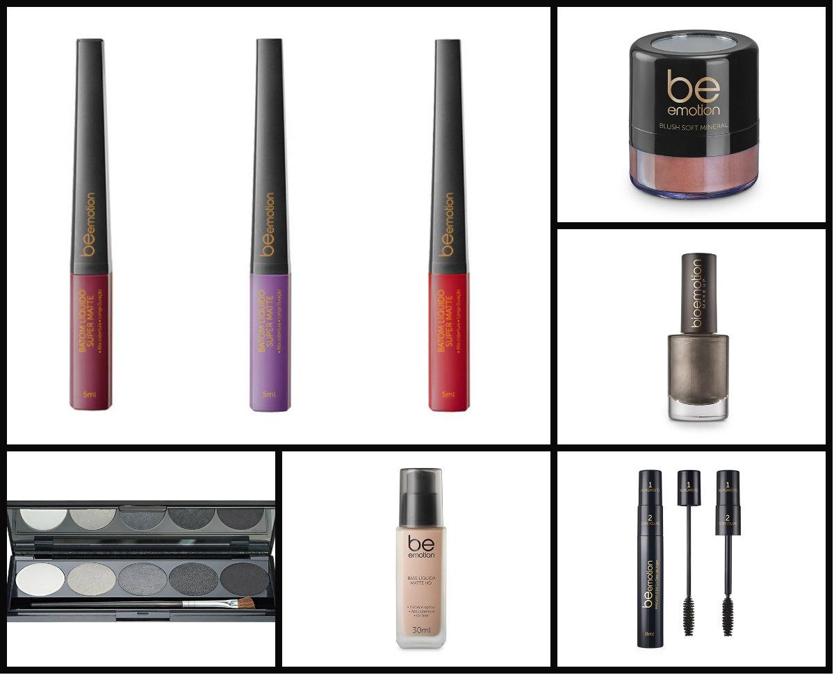 Alguns produtos da Be Emotion.