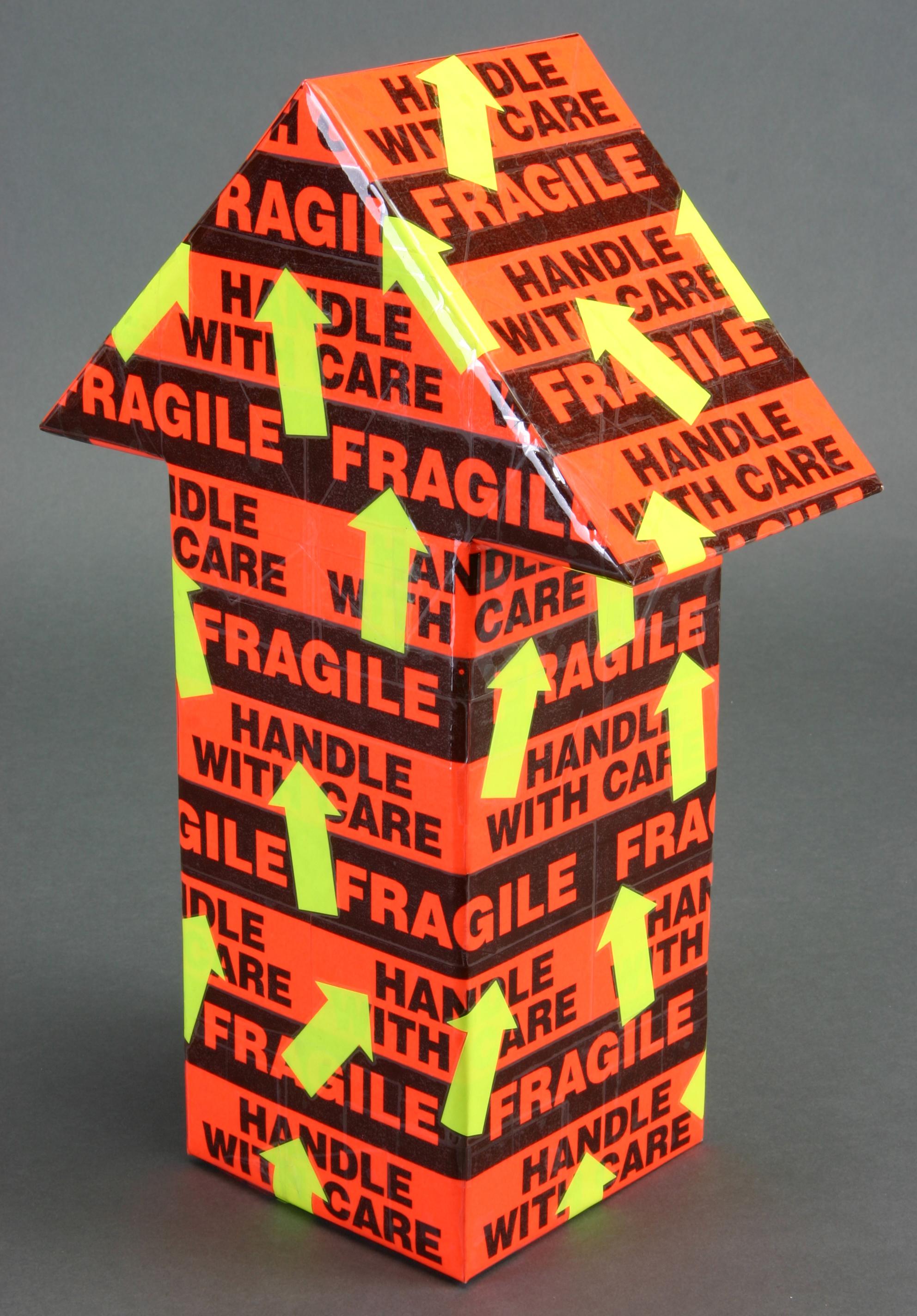 Mini - Orange Black Fragile & Yellow Arrows2.JPG