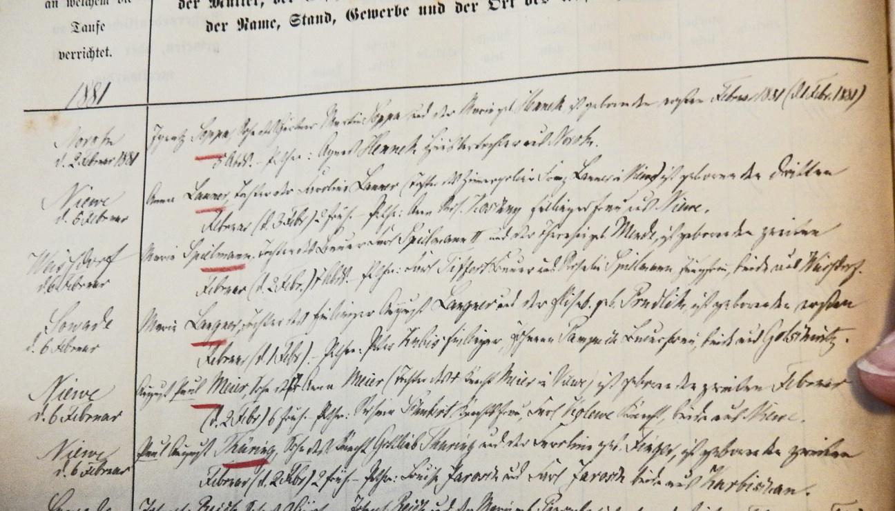 Baptismal registry  (1881)