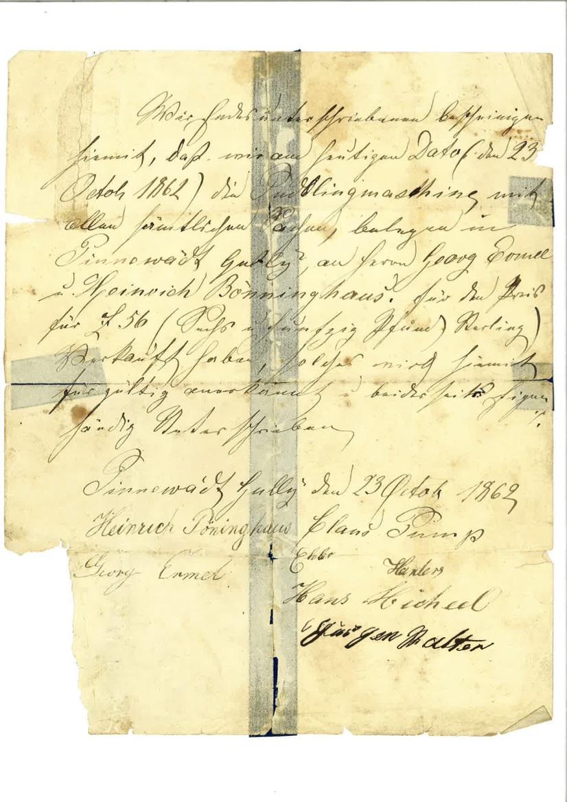 Deed transfer (1862)