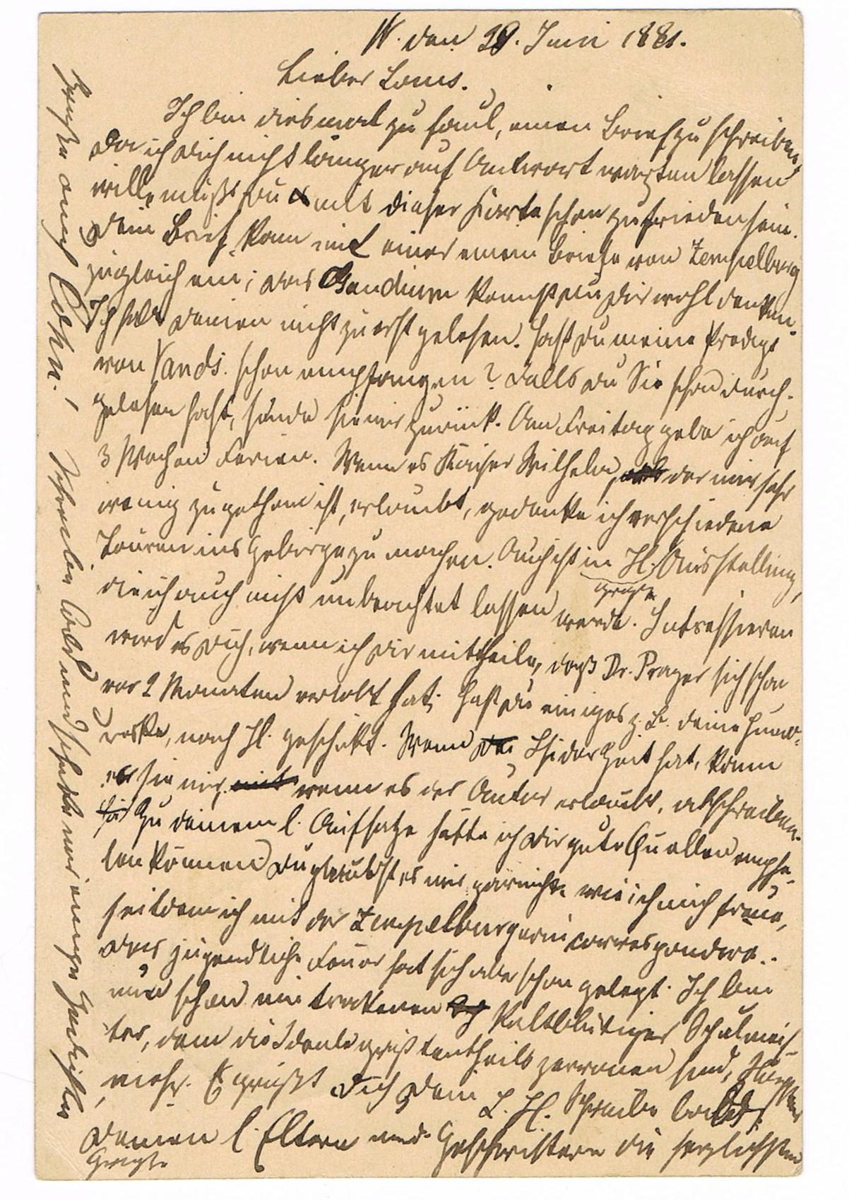 Old letter (1881)