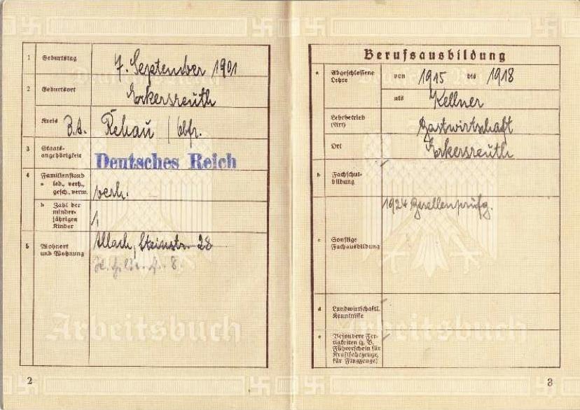 My Grandfathers Arbeitsbuch - Work Book