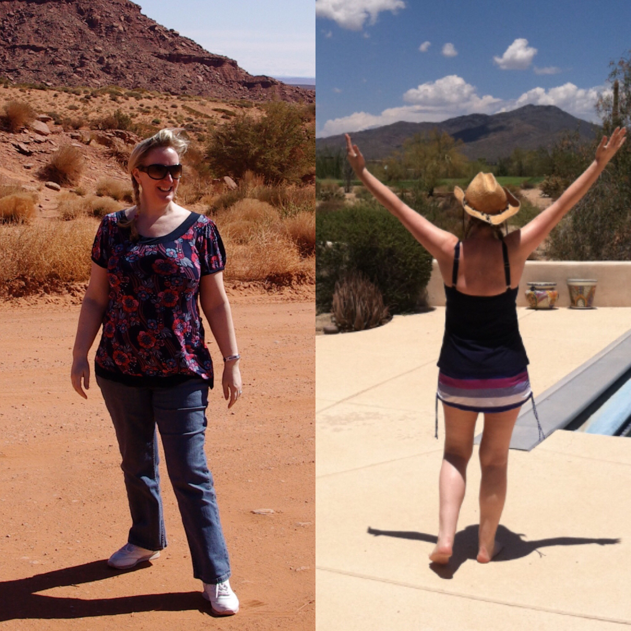 Before and after my weight loss...