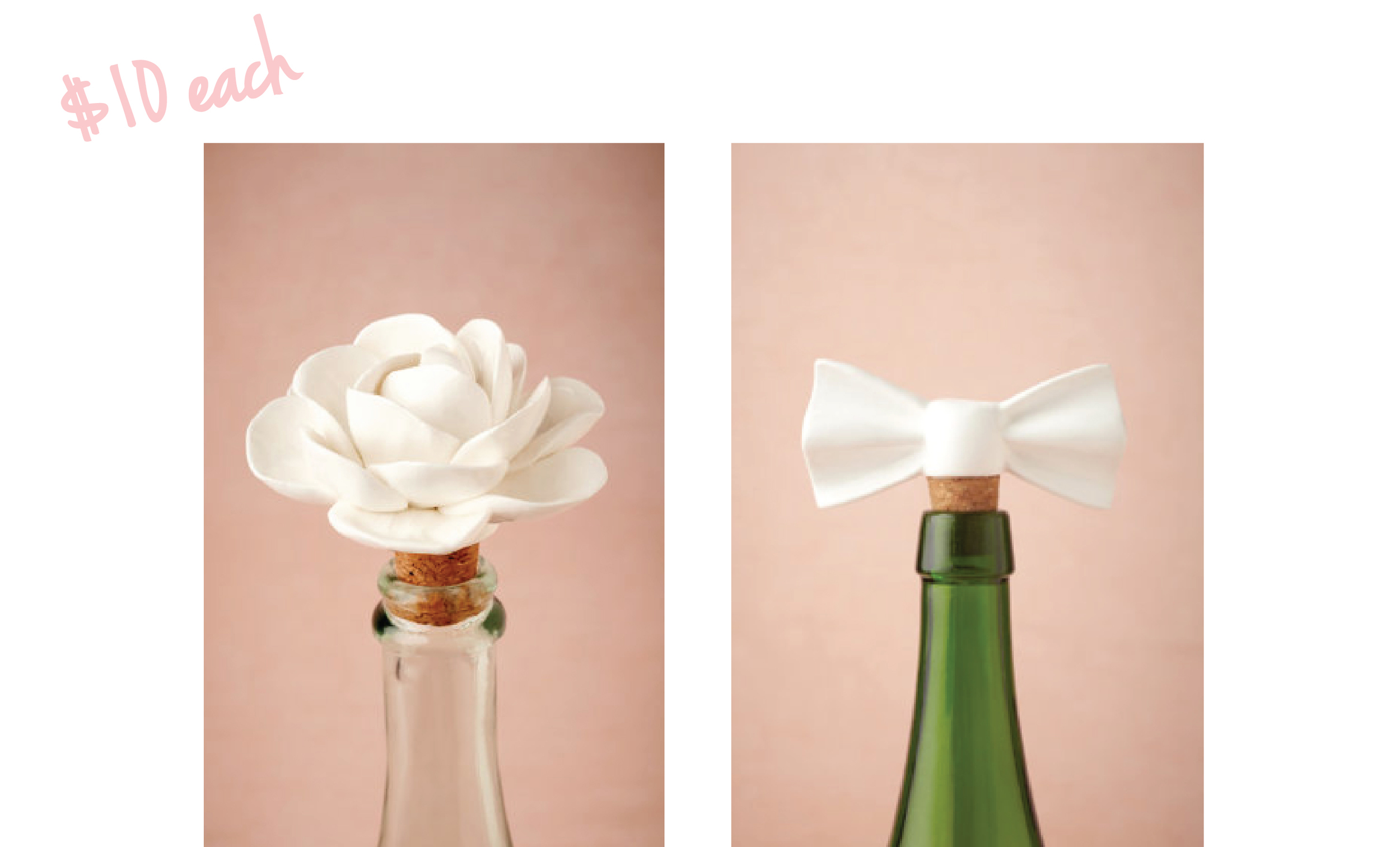 BHLDN Bow and Flower Wine Stoppers