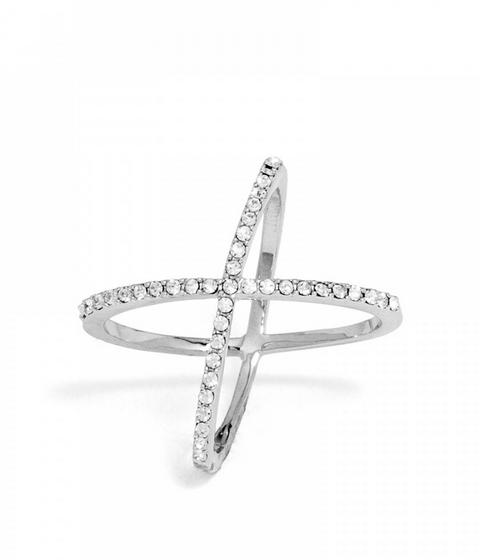 Bauble Bar Crystal X Mason Ring - $32