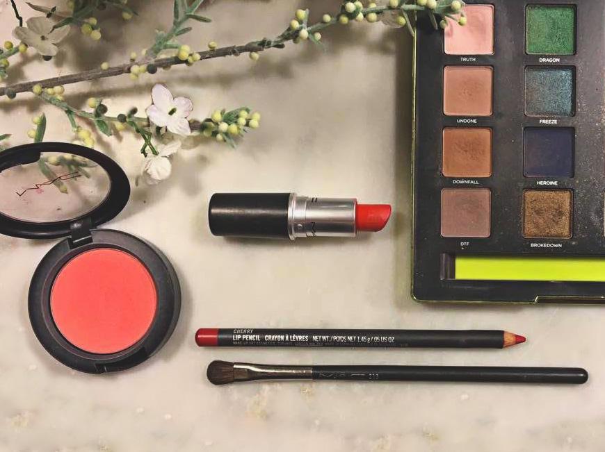 MAC So Chaud lipstick (and MAC lip liner in Cherry)