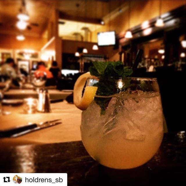 Sundays are for sitting back and enjoying a delicious 🍸#Repost @holdrens_sb ・・・ The Old Town Cooler 📷Serena Weddle #holdrens #santabarbara #craftcocktails #seesb #cocktails