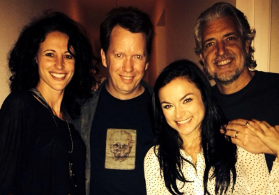 At our first ever gathering: Marisa Grieco, Sean M Carroll, Christina Ochoa, and PJ Haarsma.