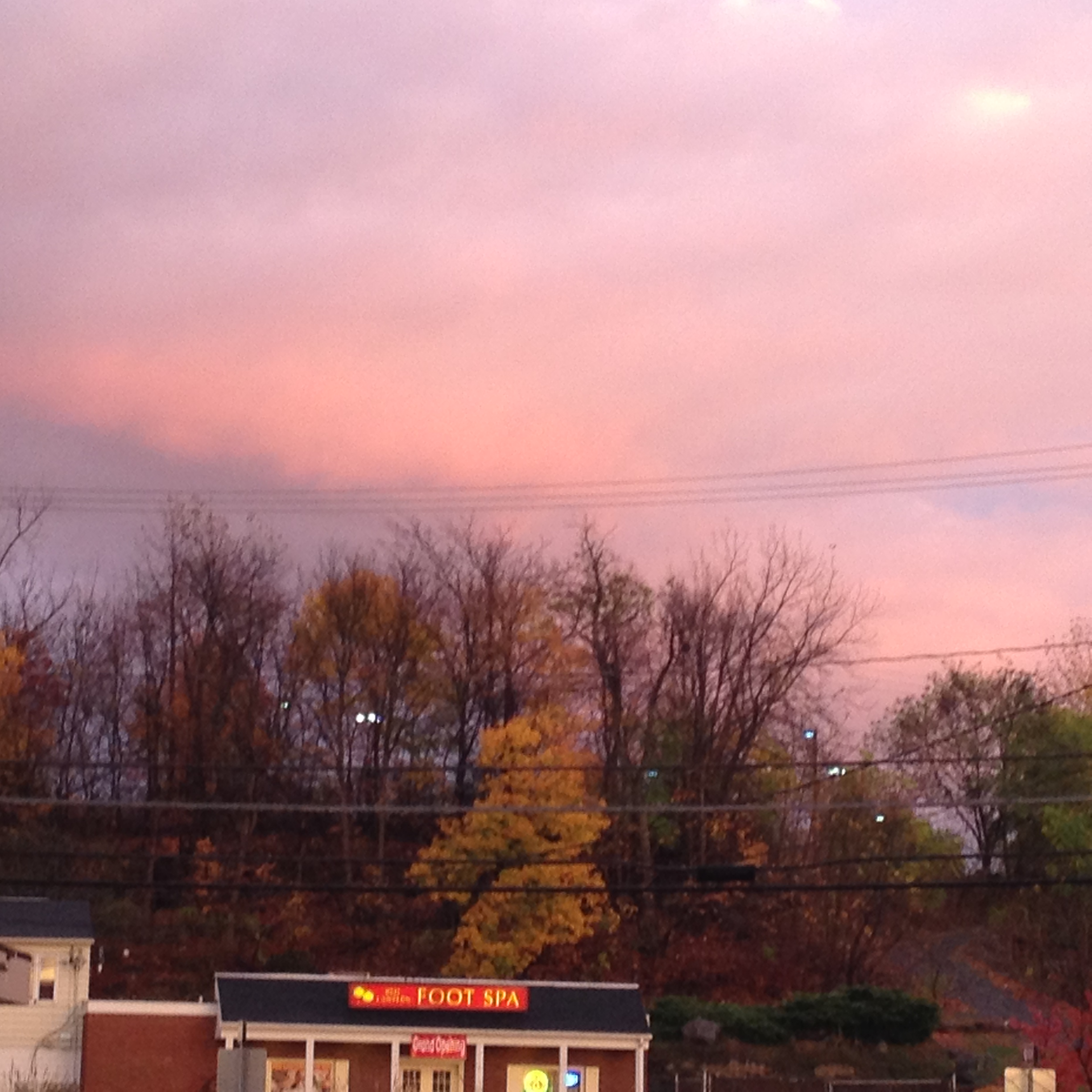 sunset, Ulster avenue.