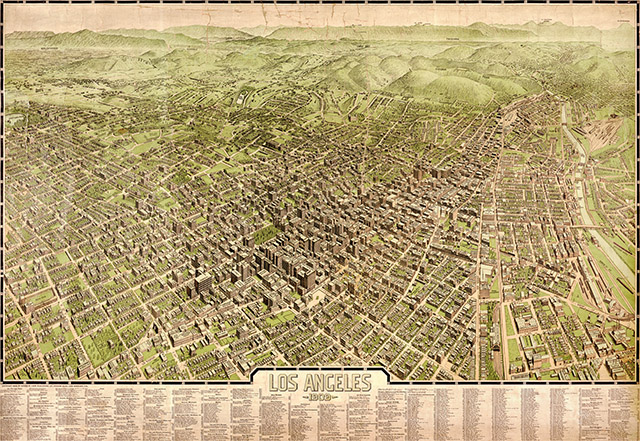 1909 Map of Los Angeles