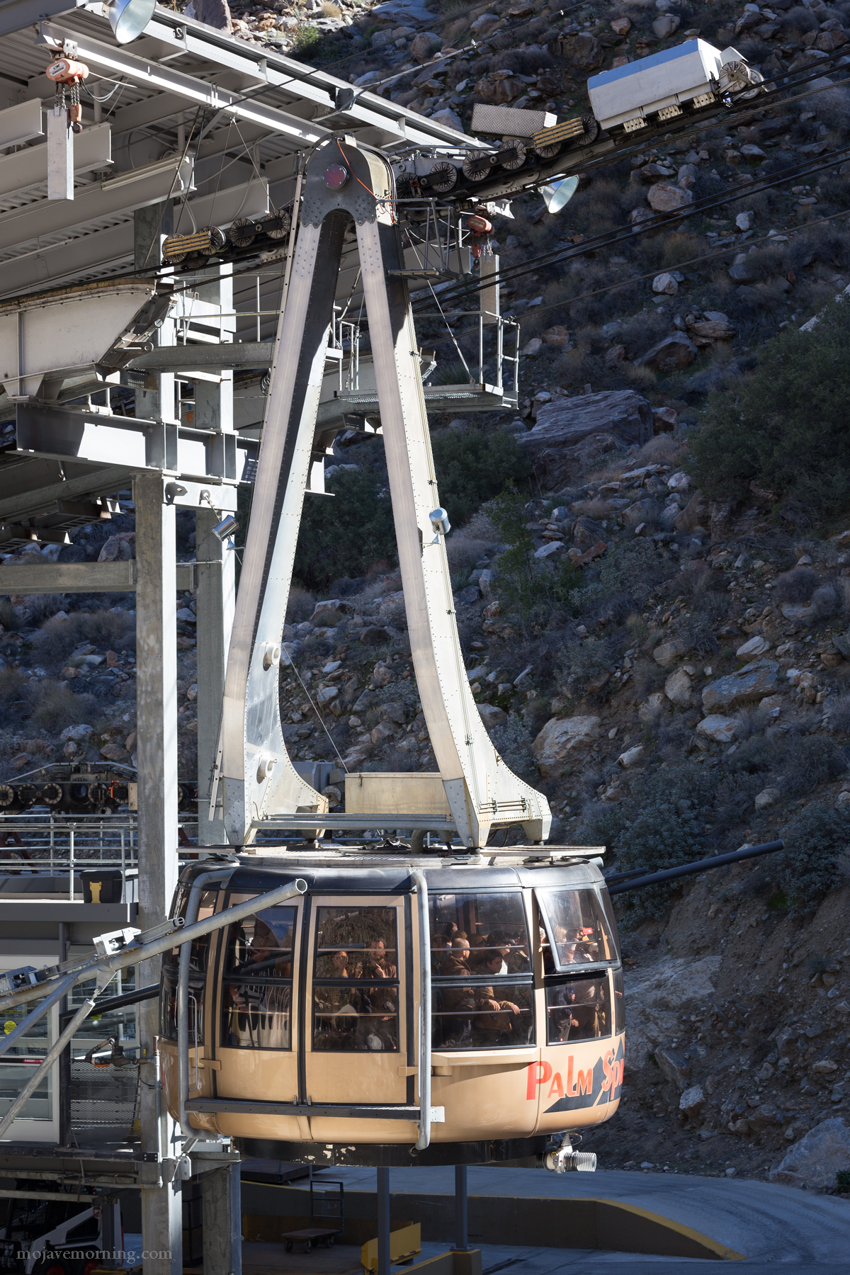The floors of the Swiss-made tramcars revolve 360 degrees twice during the extremely steep ascent up the mountain. They are the worlds largest revolving tram cars... and the only ones in the Nothern hemisphere. The only other ones are at Table Mountain in South Africa.