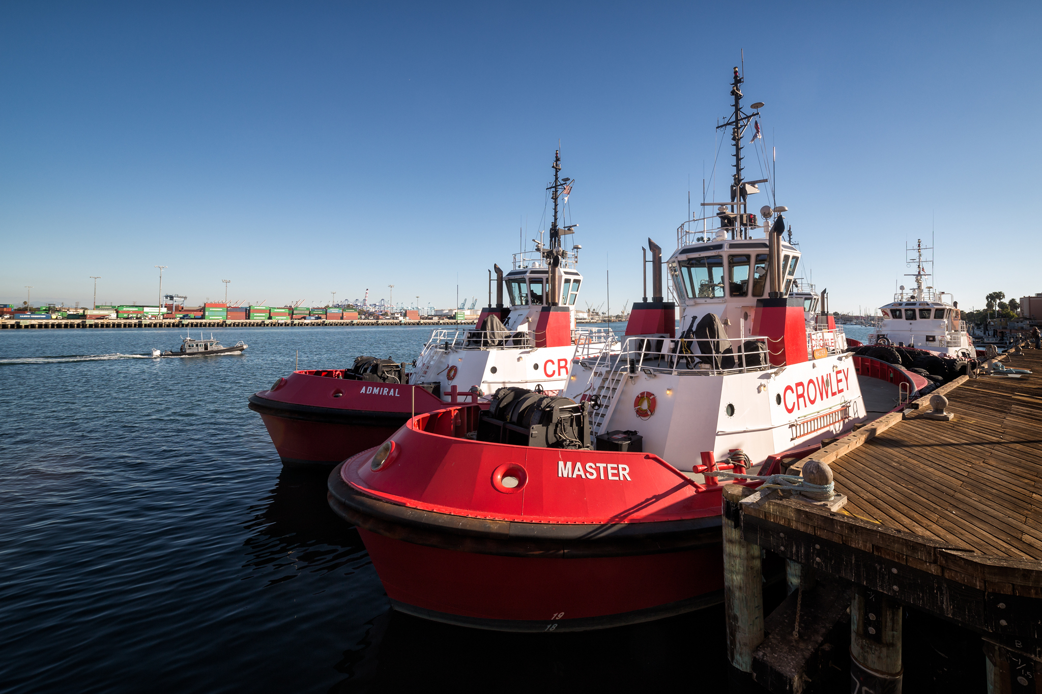 The fireboats Master and Admiral