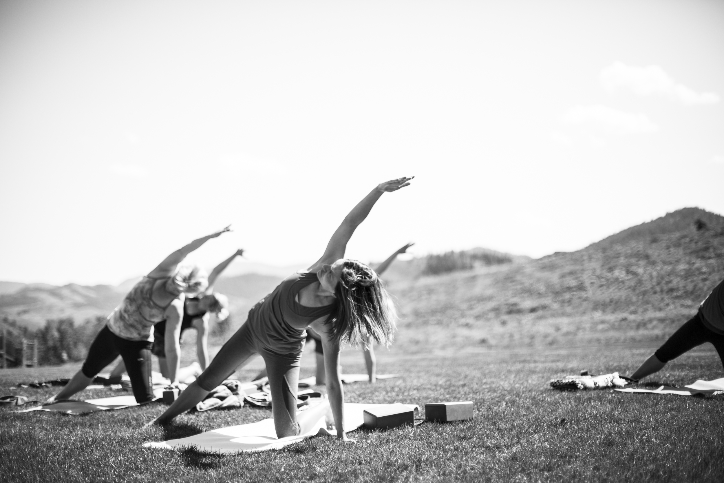 Getting our yoga on at the Women's Running and Yoga Retreat. Photo by  Hannah Dewey Photography .