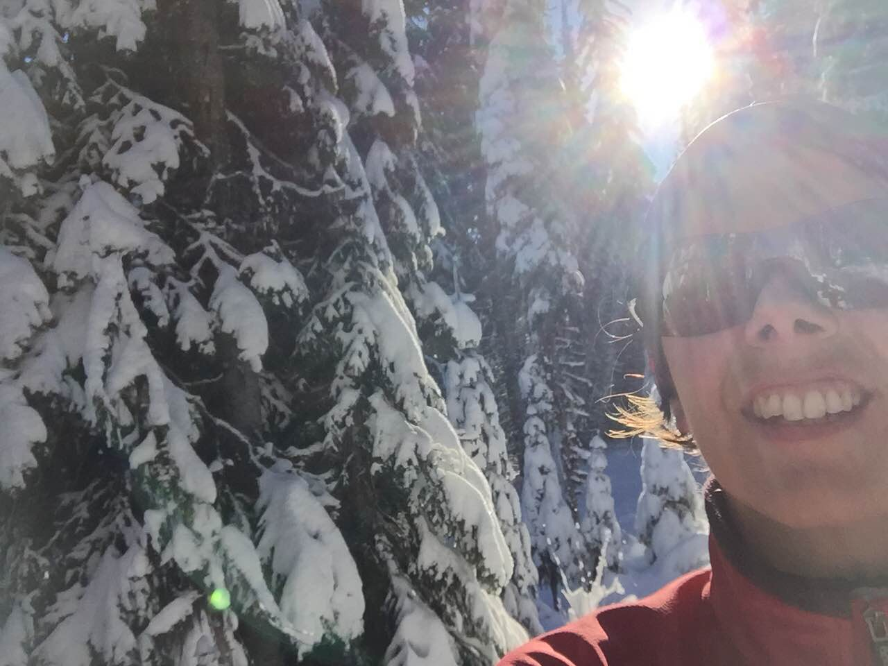 Sun, snow, and solo time: three of my favorite things.