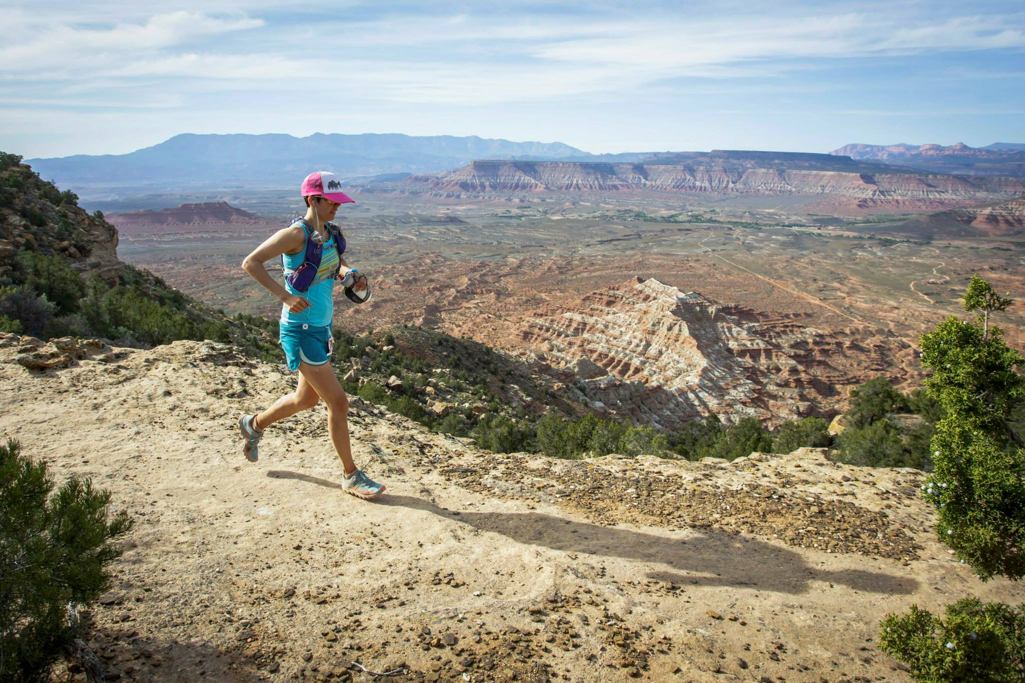 Managing the heat during the 2015 Zion 100.