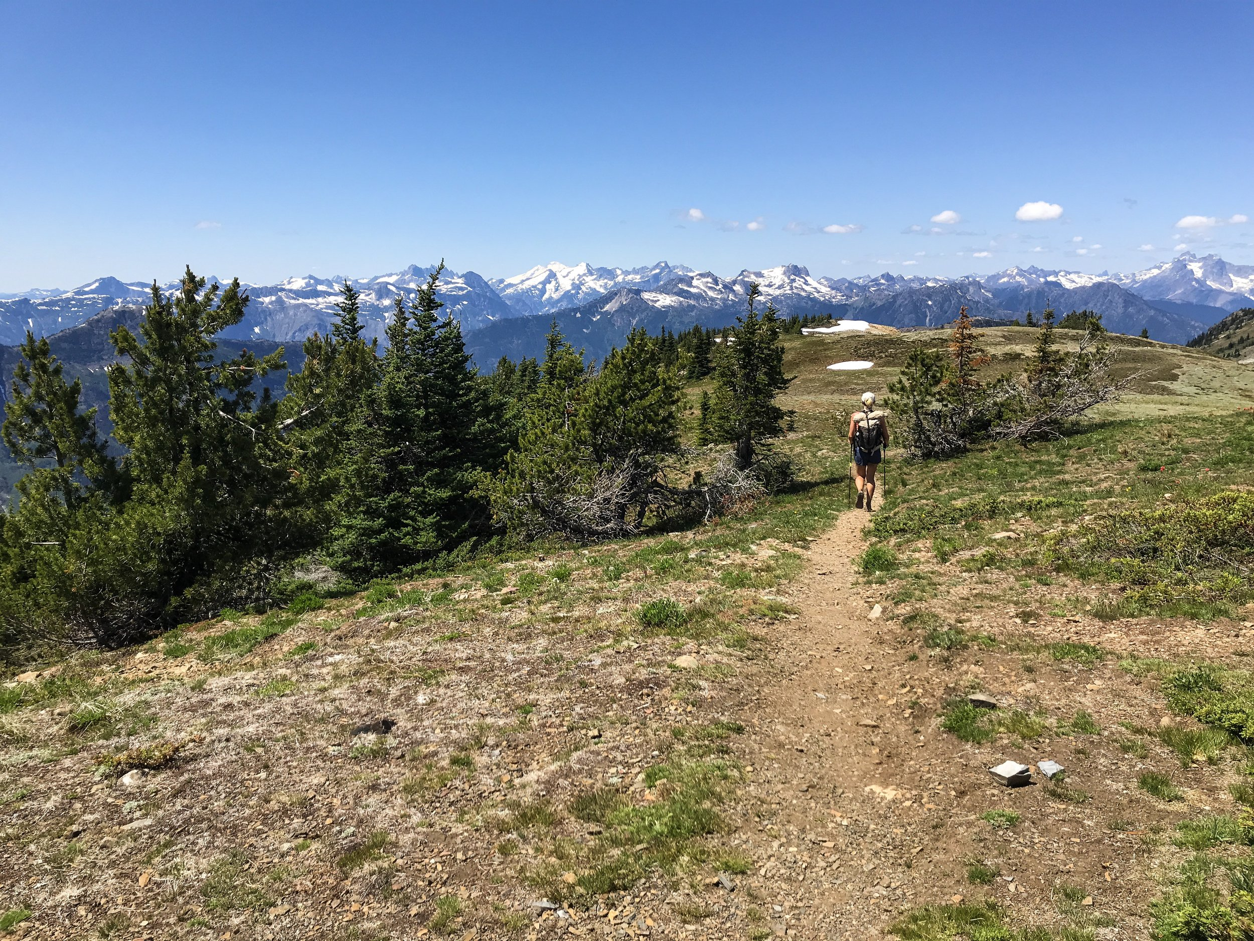 Starting the downhill from Devil's Dome