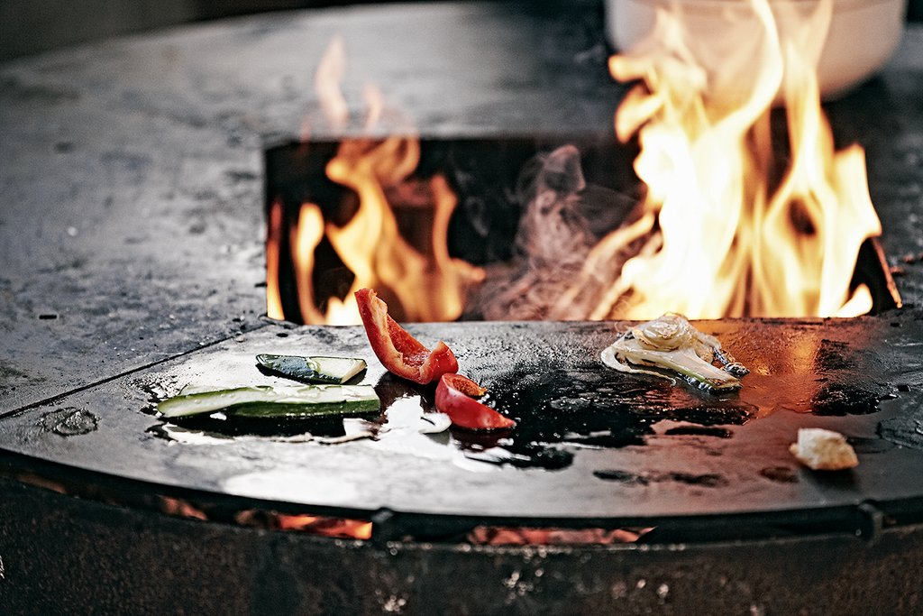 YAGOONA-grill-bbq-ringgrill-fire-party-Ringgrill peperoni, fenchel etc. fire.jpg