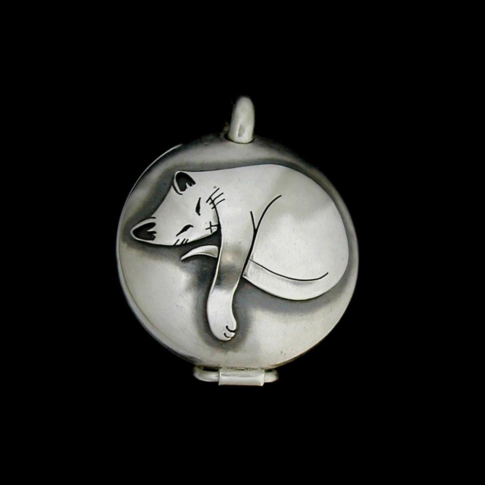 Sleepy Cat Container Locket