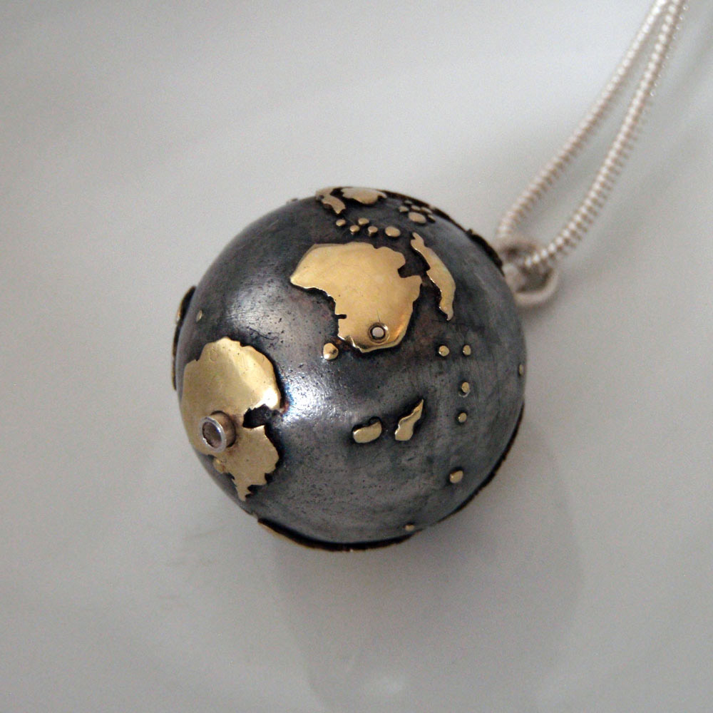 World Pendant by Abi Cochran