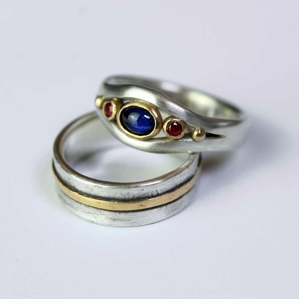 Ruby Anniversary Rings
