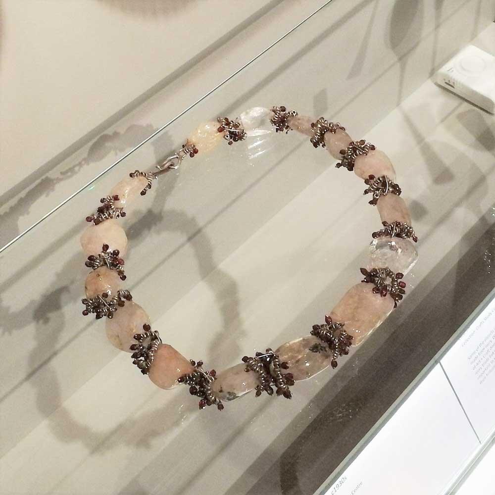 Crystal & Garnet Necklace