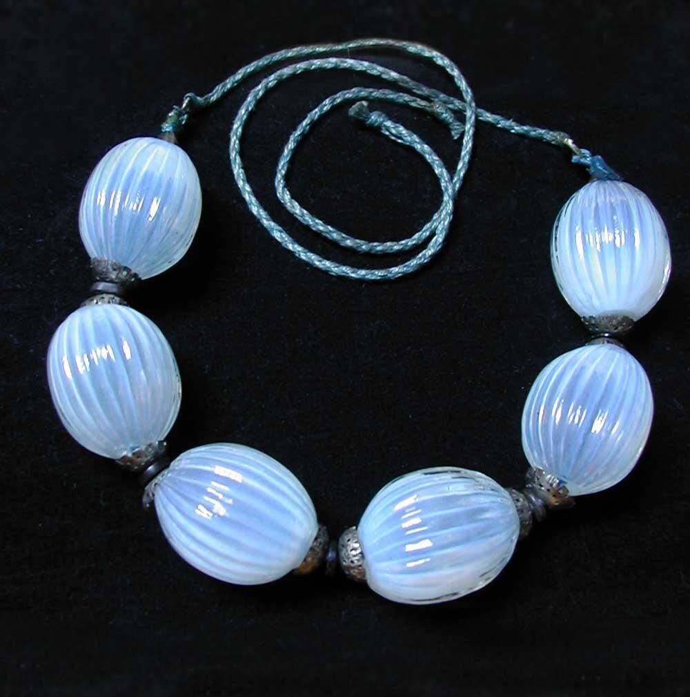 Blue Glass Baubles Necklace