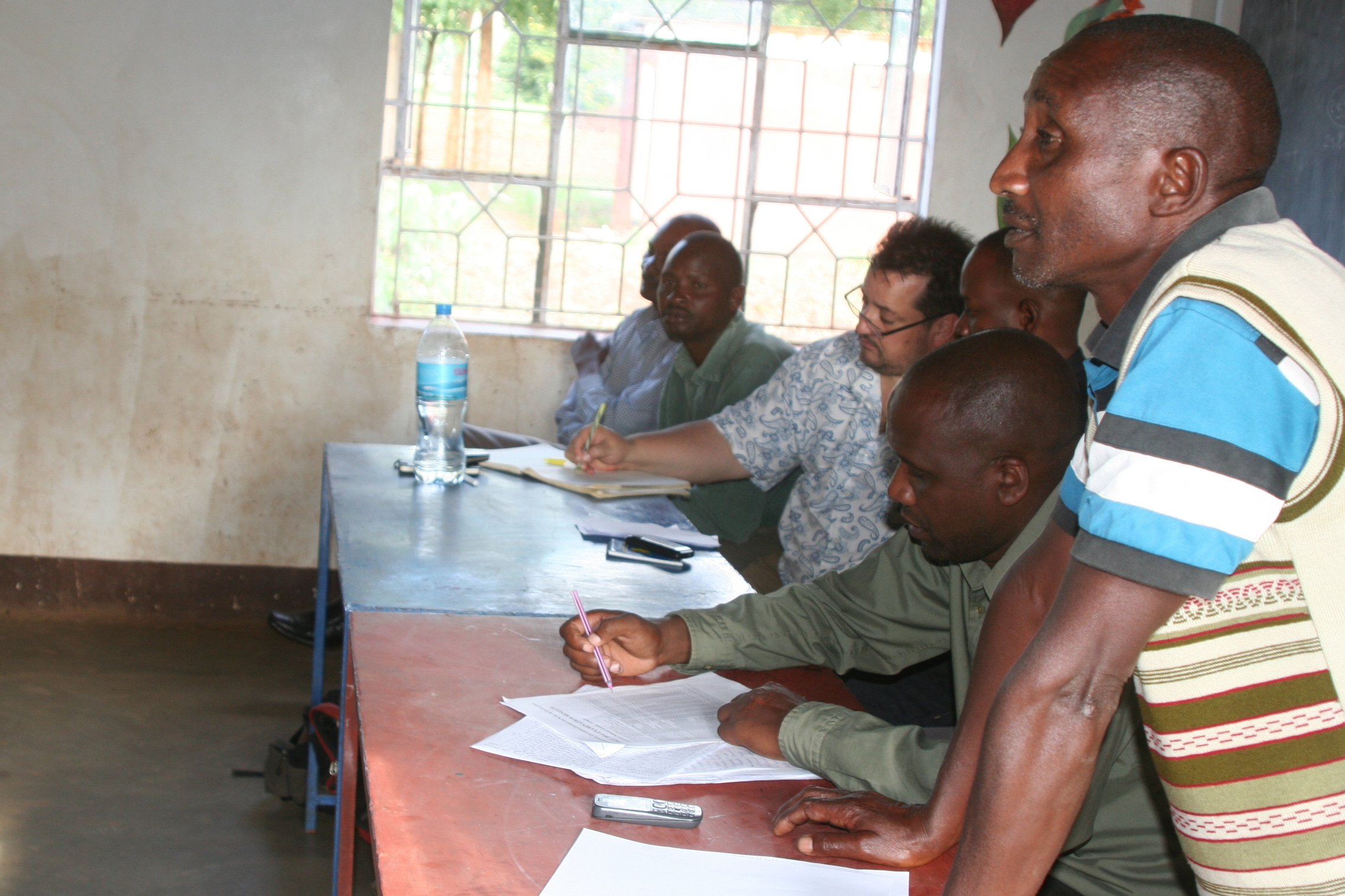 JP and the Our Farmer Board at Graduation Day - Livingstone Tanzania Trust