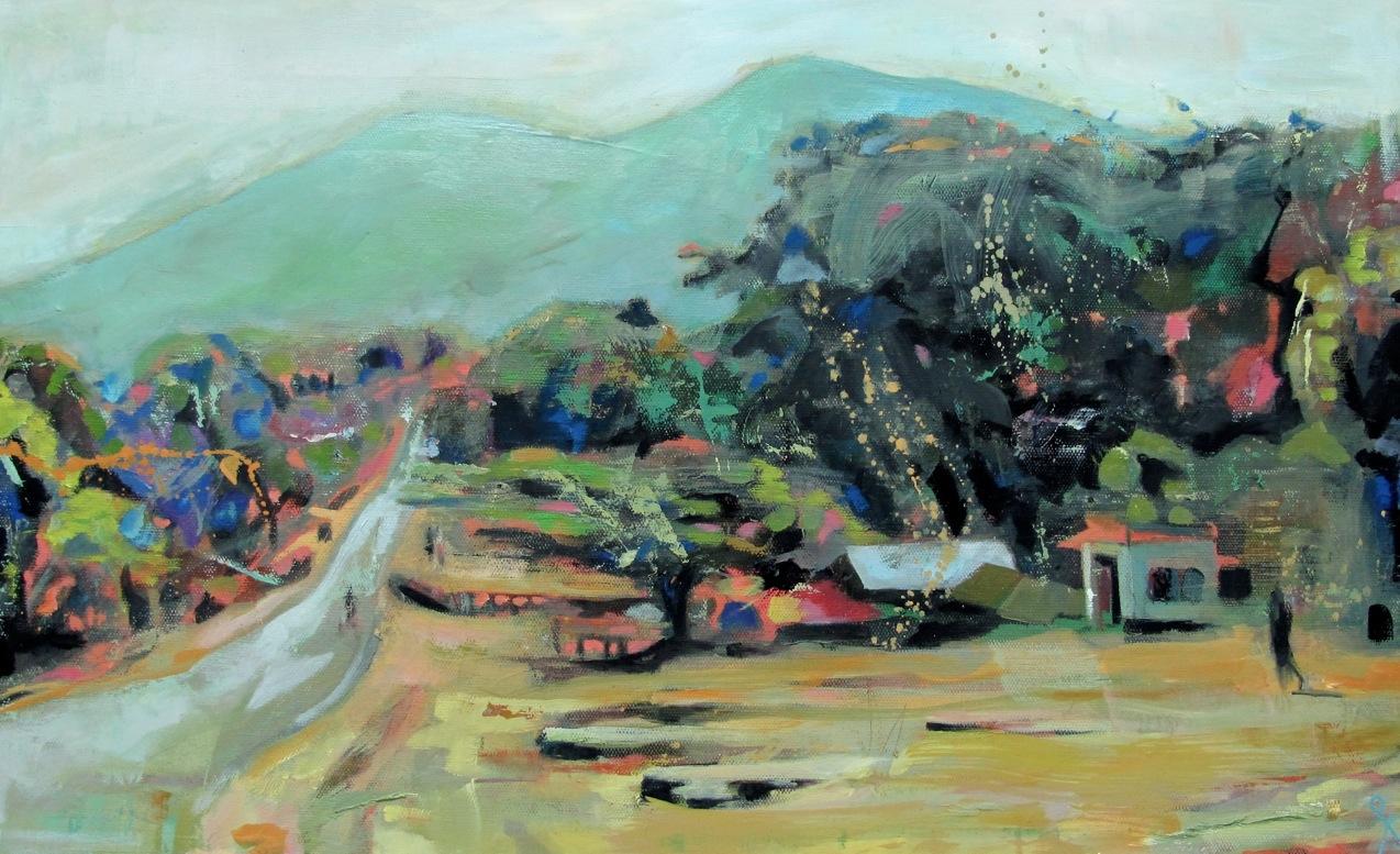 """Print of """"Road Through Babati"""""""