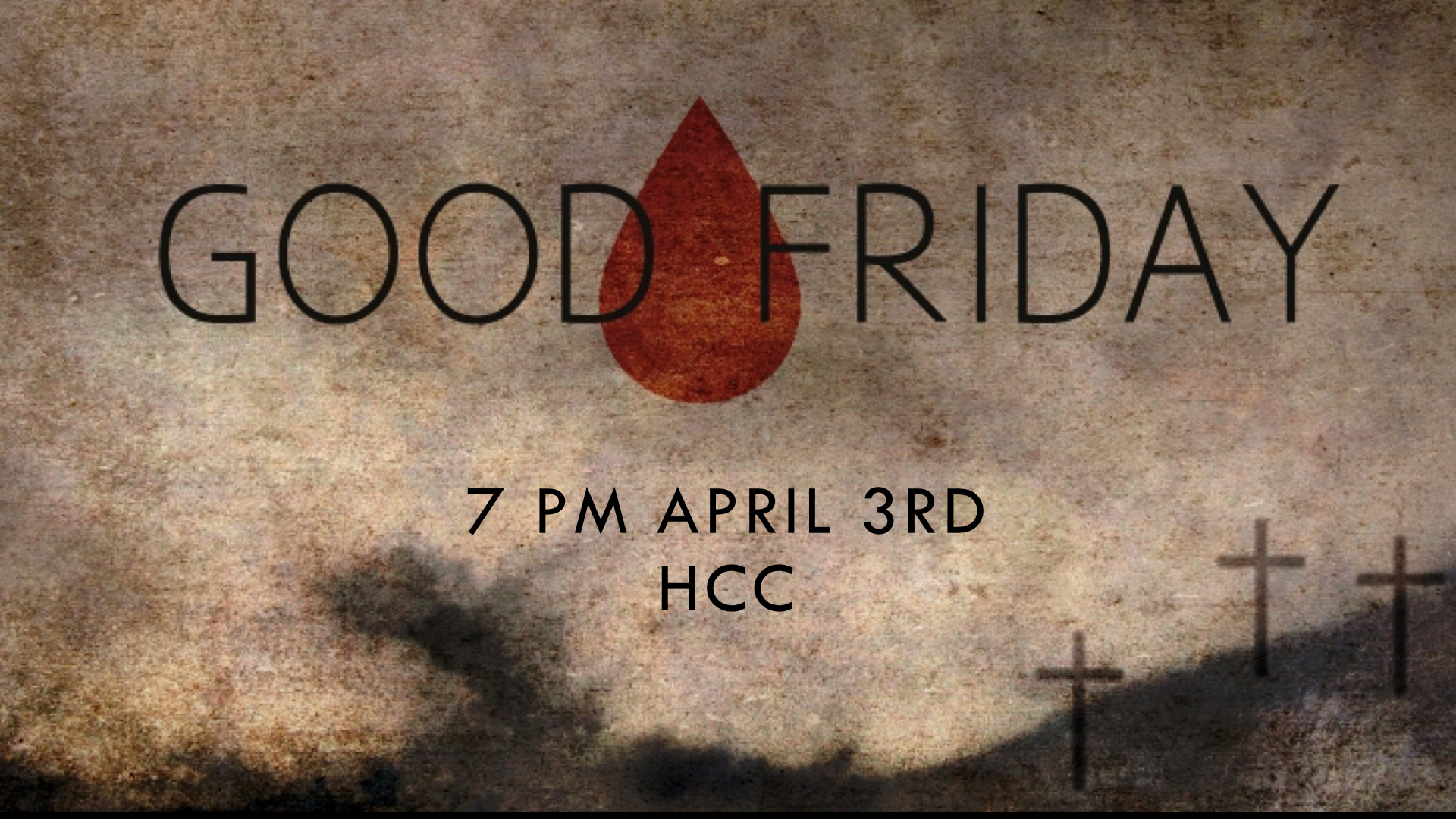 Our Reflective Service at the HCC on Good Friday