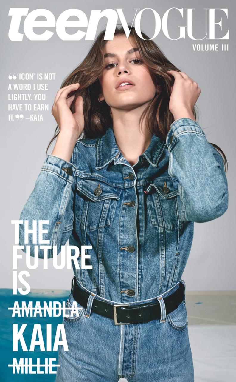 Teen Vogue Cover Shoot featuring Kaia Gerber by Collier Schorr