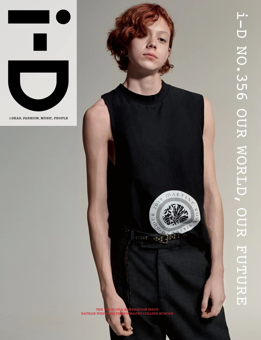 Collier Schorr for i-D cover story with Nathan Westling.
