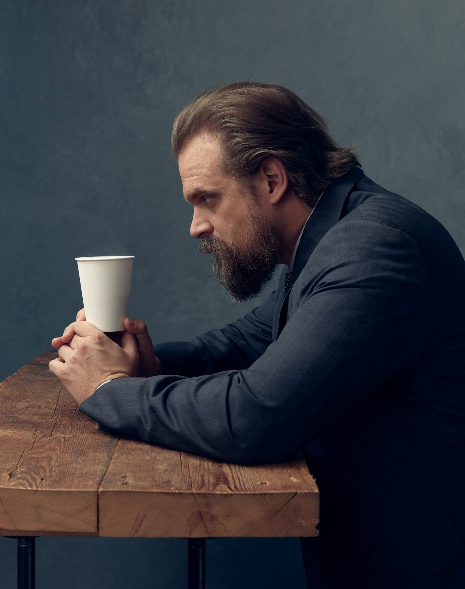 David Harbour Photographed by Justin Bettman for GQ Mexico