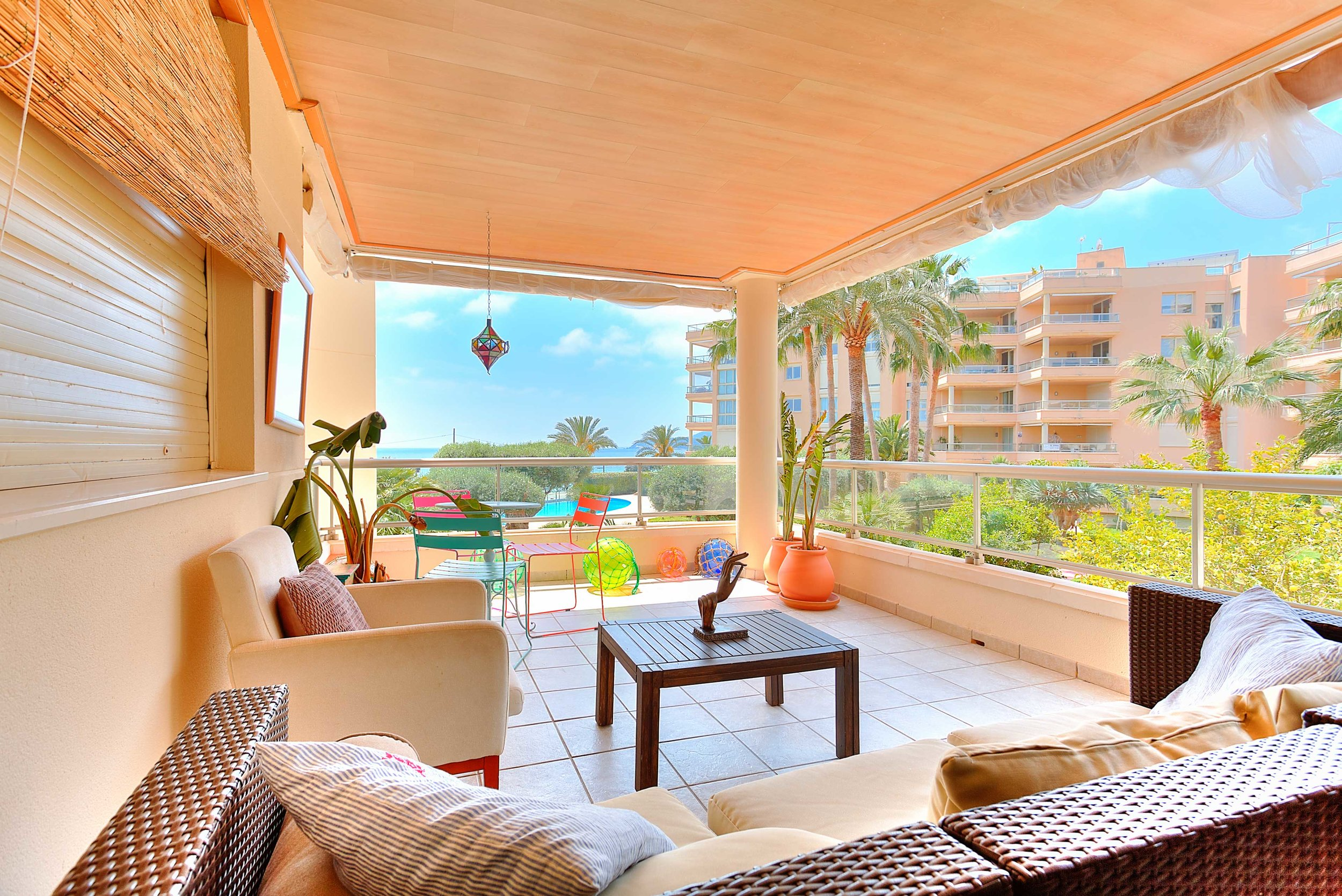 Bossa Beach Lirio - €22,500 for May To October3 bedroom, 2 bathroom Playa d'en Bossa apartment with partial sea views